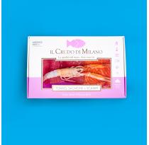 Carpaccio di Tonno, Salmone e Scampi